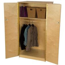 Wooden Teachers Lock-It-Up Storage Cabinet with Wardrobe Bar - 31