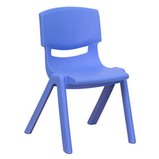 Blue Plastic Stackable School Chair with 12