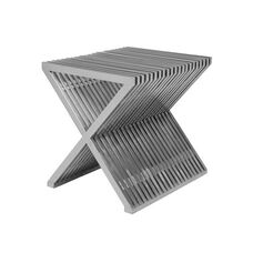 X Modern Brushed Stainless Steel Multi Purpose Table