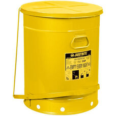 21 Gallon Steel Foot-Operated Oily Waste Can - Yellow