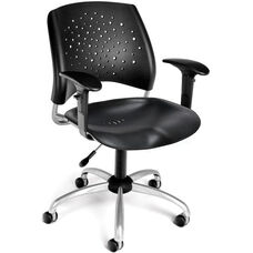 Stars Swivel Plastic Chair with Arms