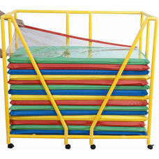 Rest Mat Storage Trolley with Casters - Yellow