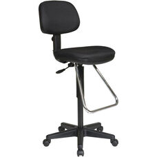 Work Smart Ergonomic Molded Foam Seat and Back Drafting Chair with Chrome Teardrop Footrest