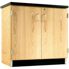 Science Lab Wooden Base Cabinet with 2 Locking Doors - 36