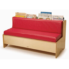 Comfy Reading Center with Area for Book Storage and Vinyl Covered Foam Cushions