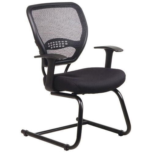 Our Space Air Grid Series Air Grid Back Visitors Chair with Mesh Seat - Black is on sale now.