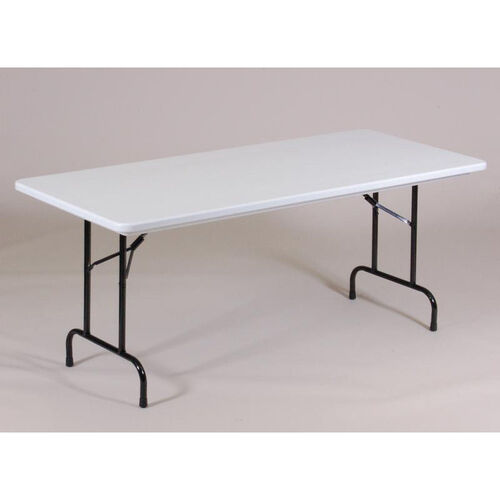 Standard Fixed Height Blow-Molded Plastic Anti-Microbial Rectangular Table - 30