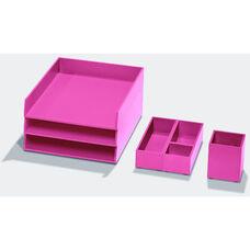 Bright Desk Organizing System Essential Storage Set - Pink