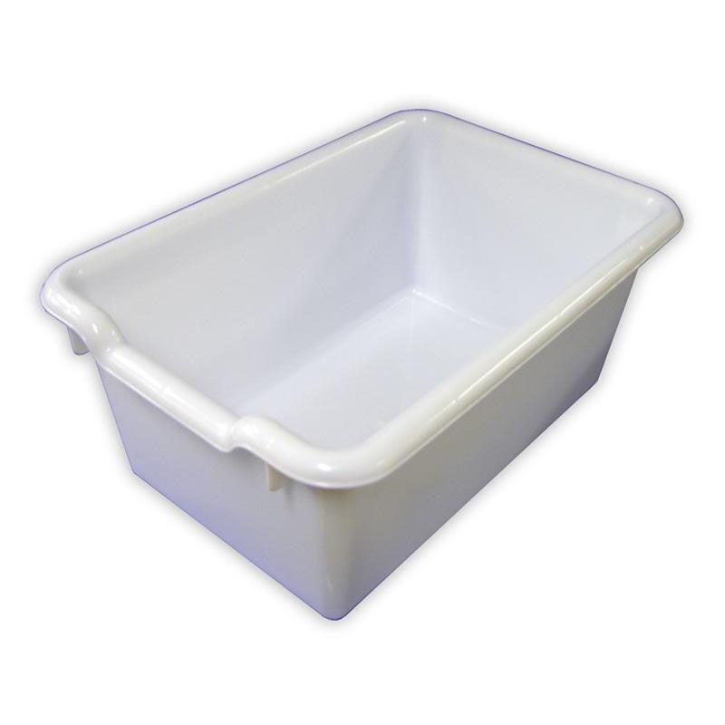 ... Our Versatile Scoop Front Plastic Storage Bins - White - 11.5u0027u0027W x 8  sc 1 st  SchoolFurniture4Less.com & White Plastic Scoop Front Bin ELR-0482-WH | SchoolFurniture4Less.com