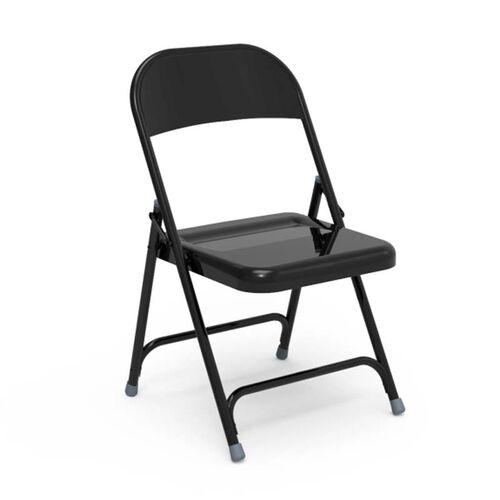 Quick Ship Multi-Purpose Steel Folding Chair with Black Finish - 17.75