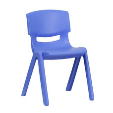 Blue Plastic Stackable School Chair with 13.25