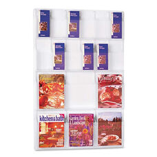 Safco® Reveal Clear Literature Displays - 18 Compartments - 30w x 2d x 45h - Clear