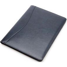 Writing Padfolio Document Organizer - Colorado Old Bonded Leather - Blue