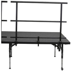 Guard Rail with Heavy - Gauge Steel Tubing Rails and Chair Stop for Stage and Seated Riser - 46''W x 31''D