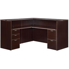 Fairplex Right or Left Reception Desk - Mocha