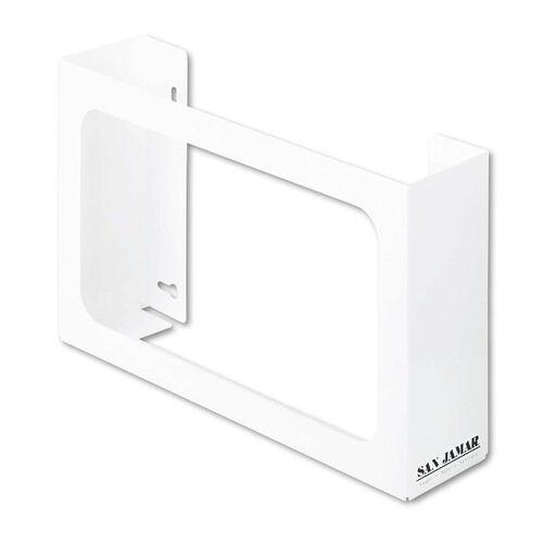San Jamar® White Enamel Disposable Glove Dispenser - Three-Box - 18w x 3 3/4d x 10h