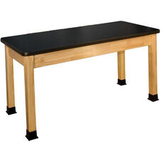 Rectangle Shaped High-Pressure Laminate Top Science Table - 24