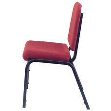 1020 Series Stacking Steel Frame Musicians Armless Chair with 2'' Upholstered Waterfall Seat - Sandtex Black