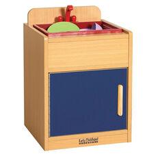 Colorful Essentials Laminate Kitchen Sink Play Station with Hidden Storage - Blue
