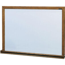 210 Series Porcelain Markerboard with Wood Frame - 144