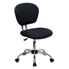 Mid-Back Gray Mesh Swivel Task Chair with Chrome Base