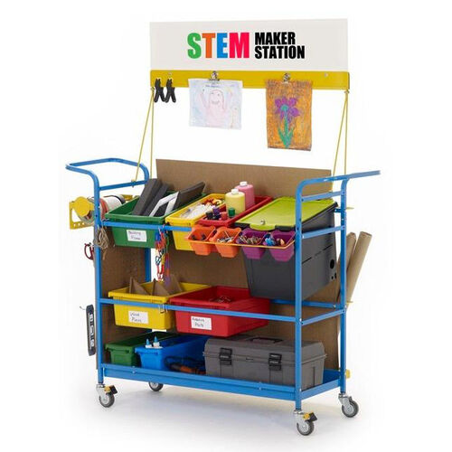Our Premium STEM Maker Station with 1 Locking Base Tech Tub™ and Pegboard for Tool Storage is on sale now.