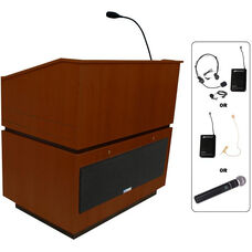 Coventry Wireless 150 Watt Sound Multimedia Lectern - Mahogany Finish - 30