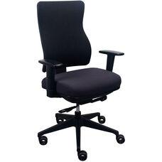 Tempur-Pedic® Spring Task Chair with Fabric Back - Dark Java