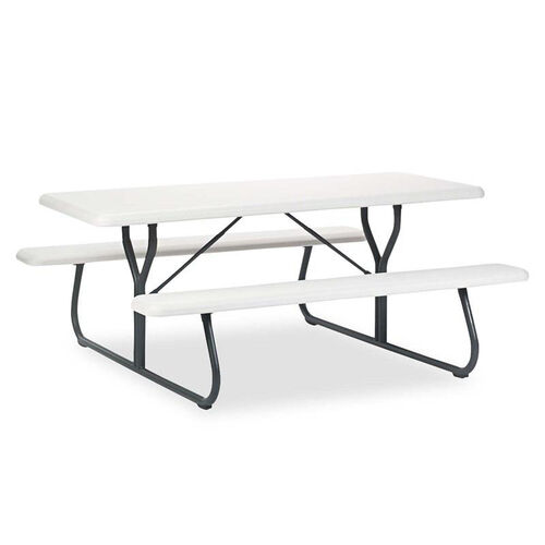 Iceberg IndestrucTables Too 1200 Series Resin Picnic Table - 72w x 30d - Platinum/Gray