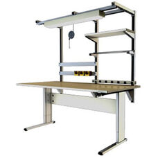 Accella Hand-crank Adjusted Ergonomic Workbench - Two Leg