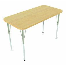 1000 Series Rectangular Adjustable Height Maple Top Activity Table - 48''W x 24''D