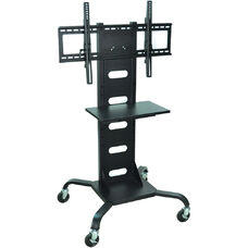 Mobile Flat Panel Stand with Shelf