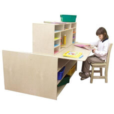 Read-n-Write Station with Chalkboard on One Side and Desk on Other - 48