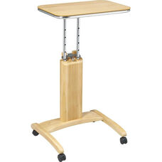OSP Designs Precision Adjustable Laptop Stand with Casters - Maple