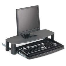 Kensington® Over/Under Keyboard Drawer with SmartFit System - 14-1/2w x 23d - Black