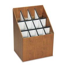 Safco® Corrugated Roll Files - 12 Compartments - 15w x 12d x 22h - Woodgrain