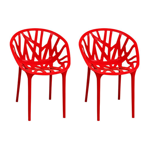 Our Branch Stackable Outdoor Red Accent Chair - Set of 2 is on sale now.