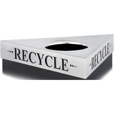 Trifecta® One Size Fits All Triangular Stainless Steel Lid - Recycle