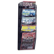 Safco Mesh Magazine Rack -5 Pockets -10 1/4