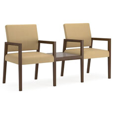 Brooklyn Series 2 Chairs with Connecting Center Table