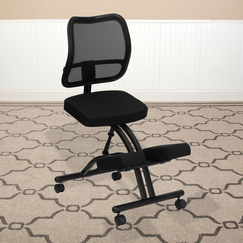 Our Mobile Ergonomic Kneeling Office Chair with Black Mesh Back is on sale now.