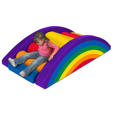 SoftZone® 9 Piece Brightly Colored Vinyl Covered Foam Rainbow Climber Play Center
