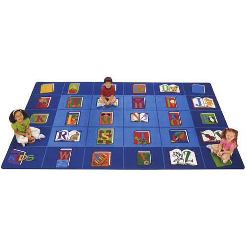 Our Reading By The Book ABC Rectangular Seating Rectangular Nylon Rug - 70