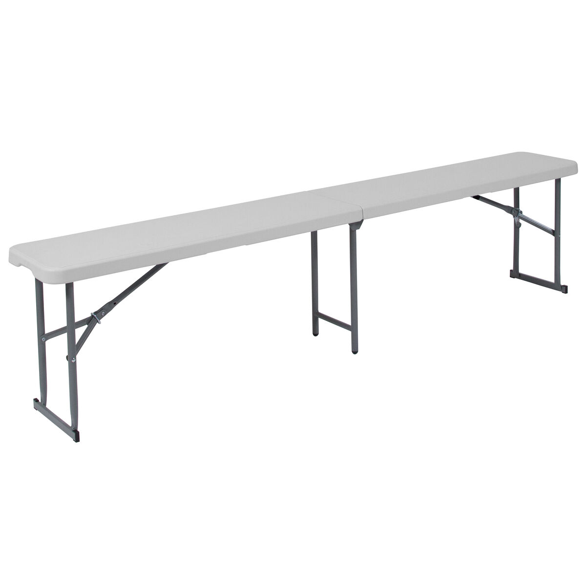 10 25x71 White Folding Bench Rb 1172fh Gg Schoolfurniture4less Com