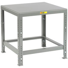 Adjustable Height Heavy-Duty Machine Table with Flush Top