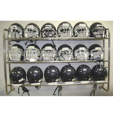 Wall Mounted Chrome Plated Steel Frame Helmet Rack