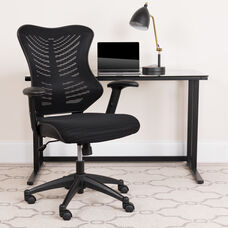 High Back Designer Black Mesh Executive Swivel Ergonomic Office Chair with Adjustable Arms