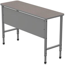 Apex Series Height Adjustable Stand Up Desk with PVC Edge - Gray Nebula Top with Gray Edge and Legs - 60