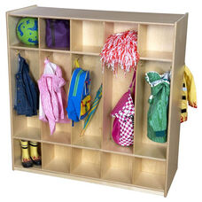 10-Section Double Sided Locker with Two Single Hooks in Each Section - Assembled - 48