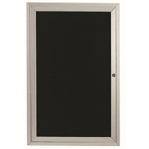 1 Door Indoor Enclosed Directory Board with Aluminum Frame - 48